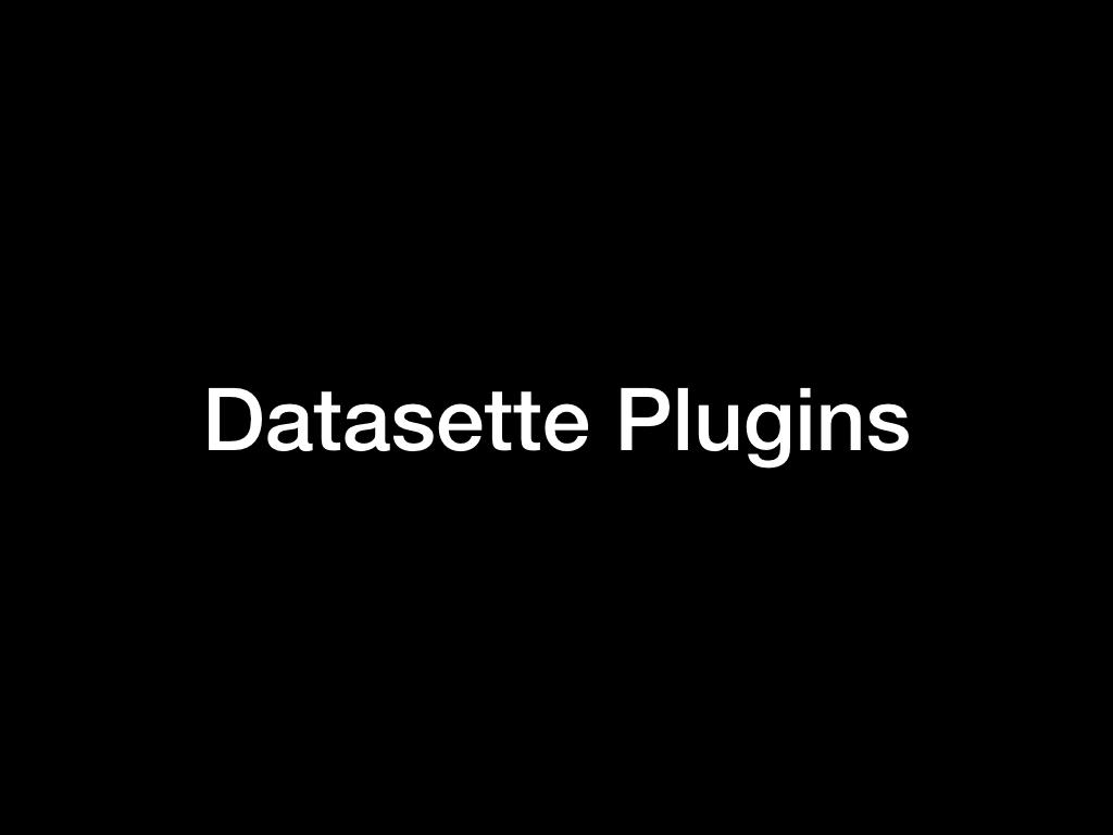 Datasette Plugins