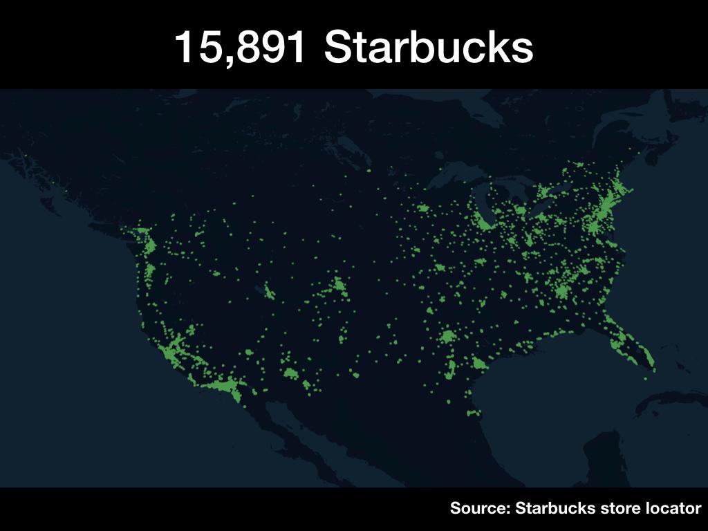 15,891 Starbucks