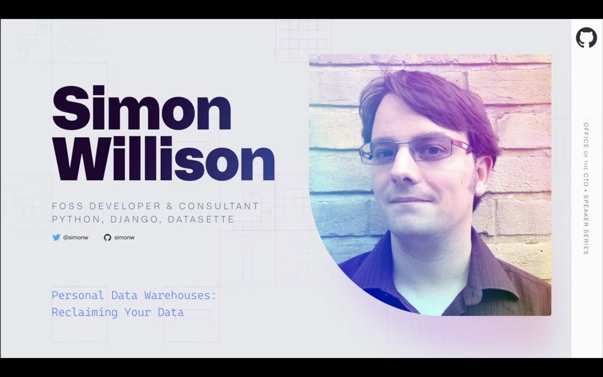 Simon Willison - FOSS Developer and Consultant, Python, Django, Datasette