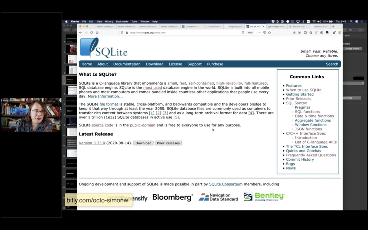 The SQLite home page