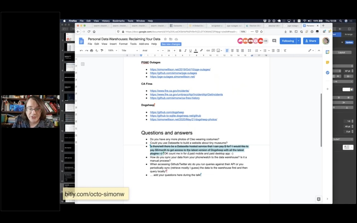 Screenshot of the Google Doc