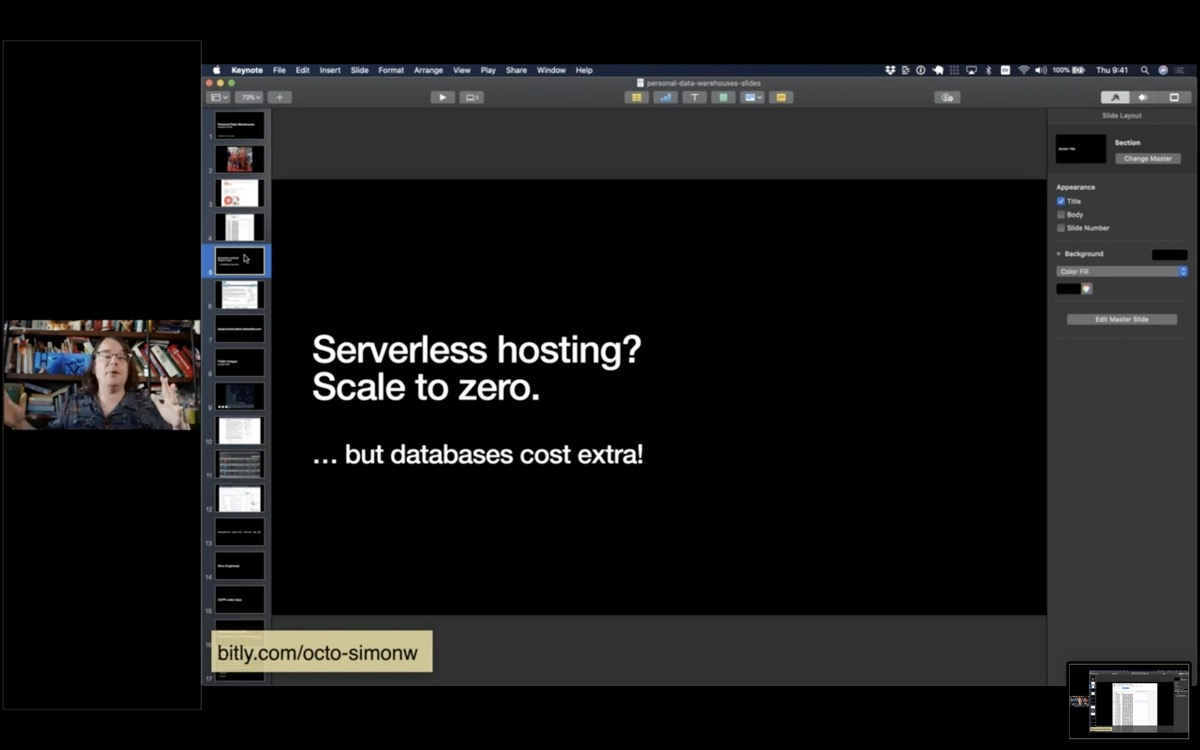 Serverless hosting? Scale to Zero. ... but databases cost extra!