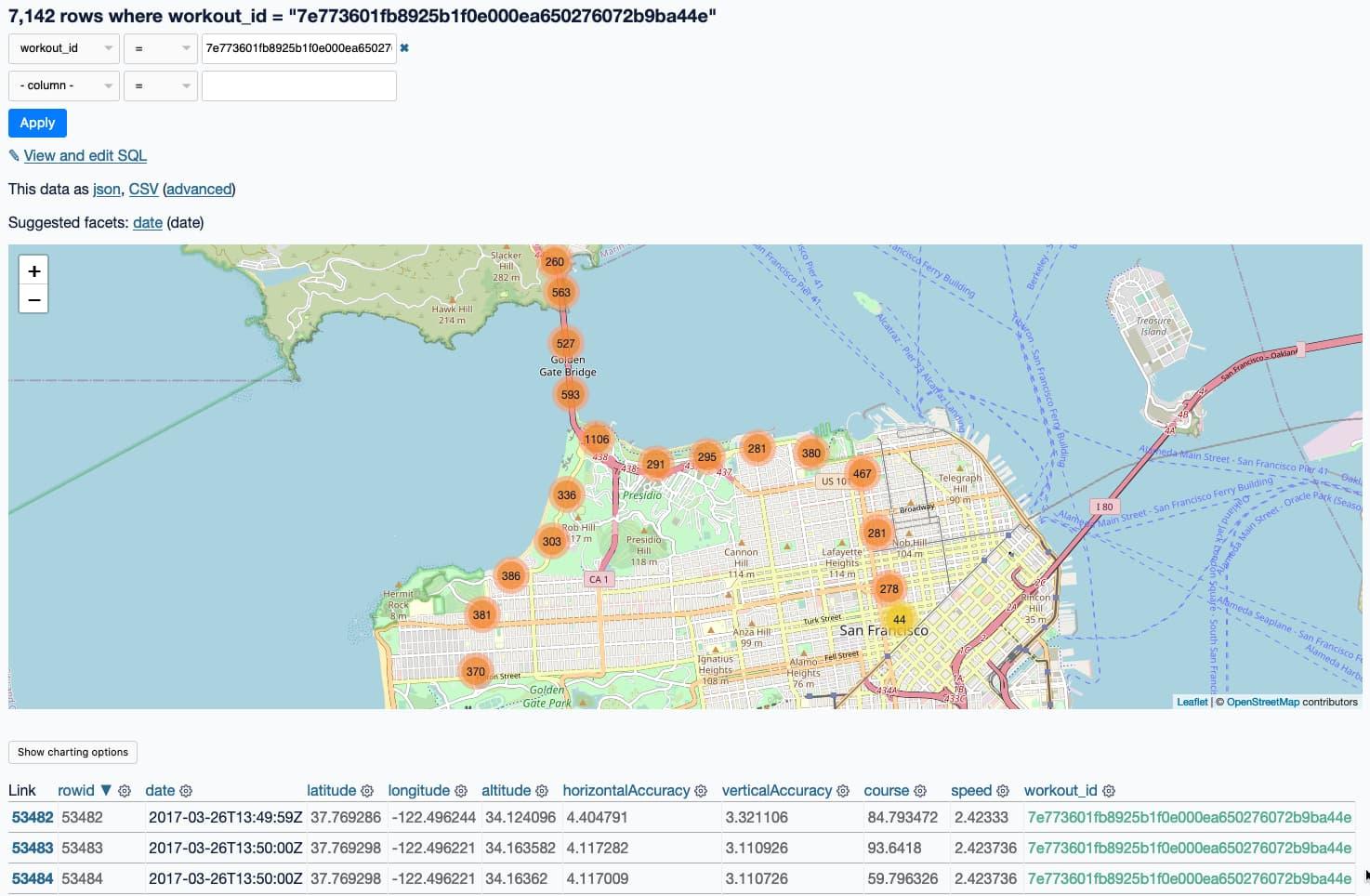 A map of the half marathon I ran